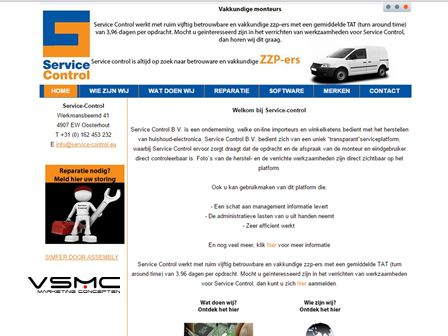 servicecontrol website